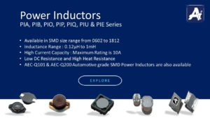 SMD Power Inductors : PIA, PIB, PIO, PIP, PIQ, PIU & PIE Series